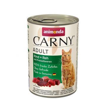 Animonda Carny Adult Rind & Reh & Preiselbeeren 400g (Menge: 6 je Bestelleinheit)