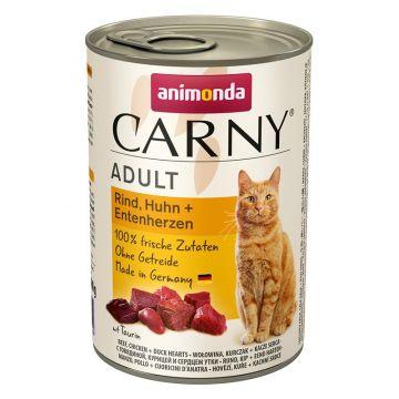 Animonda Carny Adult Rind & Huhn & Entenherzen 400g (Menge: 6 je Bestelleinheit)