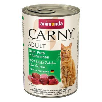 Animonda Carny Adult Rind & Pute & Kaninchen 400g (Menge: 6 je Bestelleinheit)