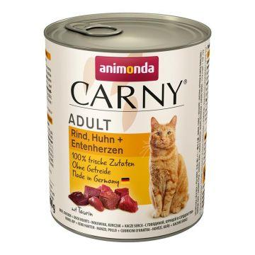 Animonda Carny Adult Rind, Huhn & Entenherzen 800g (Menge: 6 je Bestelleinheit)