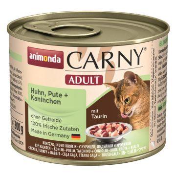 Animonda Cat Dose Carny Adult Huhn & Pute & Kaninchen 200g (Menge: 6 je Bestelleinheit)