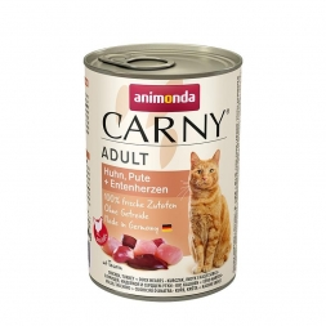 Animonda Cat Dose Carny Adult Huhn & Pute & Entenherzen 400g (Menge: 6 je Bestelleinheit)