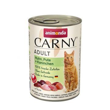 Animonda Cat Dose Carny Adult Huhn & Pute & Kaninchen 400g (Menge: 6 je Bestelleinheit)