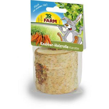 JR Farm Knabber-Holzrolle mit Karotten 150g (Menge: 5 je Bestelleinheit)