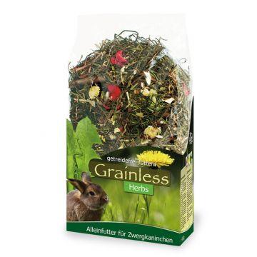 JR Farm Grainless Herbs Zwergkaninchen 400 g (Menge: 6 je Bestelleinheit)