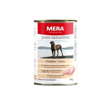 MeraDog Pure Sensitive Meat Truthahn 400g Dose (Menge: 6 je Bestelleinheit)