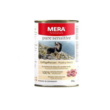MeraDog Pure Sensitive Meat Geflügelherzen 400g-Dose (Menge: 6 je Bestelleinheit)