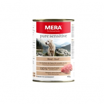 MeraDog Pure Sensitive Meat Rind 400g-Dose (Menge: 6 je Bestelleinheit)