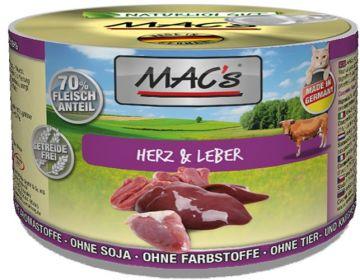 MACs Cat Herz & Leber 200g (Menge: 6 je Bestelleinheit)