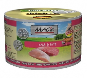 MACs Cat Kalb & Pute 200g (Menge: 6 je Bestelleinheit)