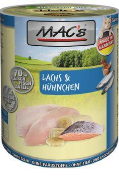 MACs Cat Lachs & Hühnchen 400g (Menge: 6 je Bestelleinheit)