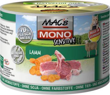 MACs Cat Mono Sensitive Lamm 200g (Menge: 6 je Bestelleinheit)
