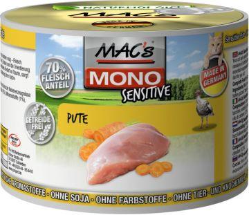 MACs Cat Mono Sensitive Pute 200g (Menge: 6 je Bestelleinheit)