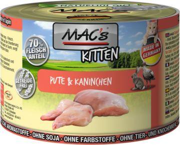MACs Cat Kitten Pute & Kaninchen 200g (Menge: 6 je Bestelleinheit)