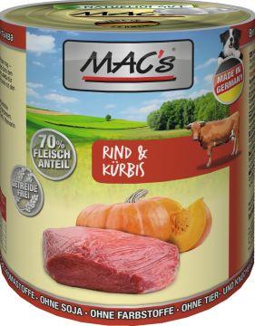 MACs Dog Rind & Kürbis 800g (Menge: 6 je Bestelleinheit)