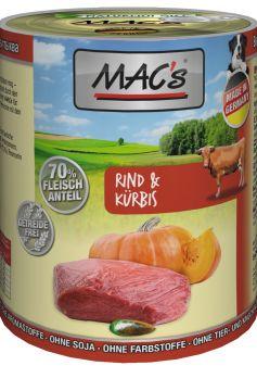 MACs Dog Rind & Kürbis 400g (Menge: 6 je Bestelleinheit)