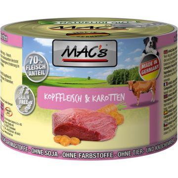 MACs Dog Kopffleisch & Karotten 200g (Menge: 6 je Bestelleinheit)
