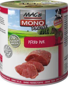 MACs Dog Mono Sensitive Pferd Pur 800g (Menge: 6 je Bestelleinheit)