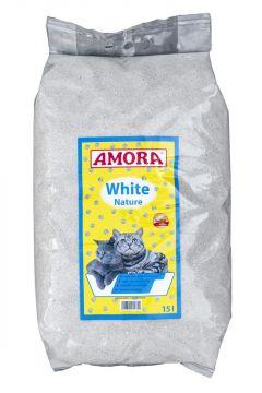 AMORA Katzenstreu White Compact Nature 15l