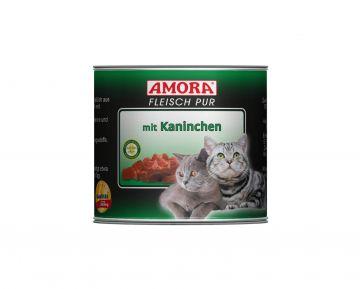 AMORA Cat Fleisch pur mit Kaninchen 200g (Menge: 6 je Bestelleinheit)