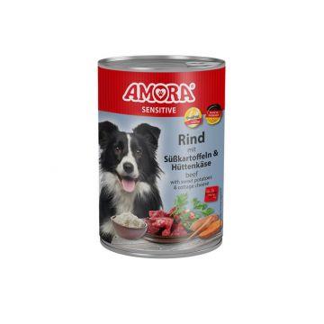 AMORA Dog Sensitive getreidefrei Rind & Süßkartoffel 400g (Menge: 6 je Bestelleinheit)