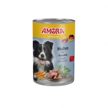 AMORA Dog Sensitive getreidefrei Huhn & Karotte 400g (Menge: 6 je Bestelleinheit)
