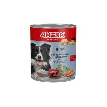 AMORA Dog Sensitive getreidefrei Rind & Süßkartoffel 800g (Menge: 6 je Bestelleinheit)
