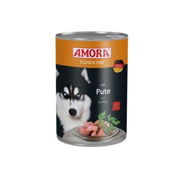 AMORA Dog Fleisch pur getreidefrei Pute 400g (Menge: 6 je Bestelleinheit)