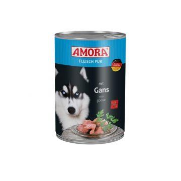 AMORA Dog Fleisch Pur getreidefrei Gans 400g (Menge: 6 je Bestelleinheit)