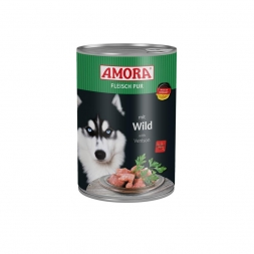 AMORA Dog Fleisch pur getreidefrei Wild 400g (Menge: 6 je Bestelleinheit)