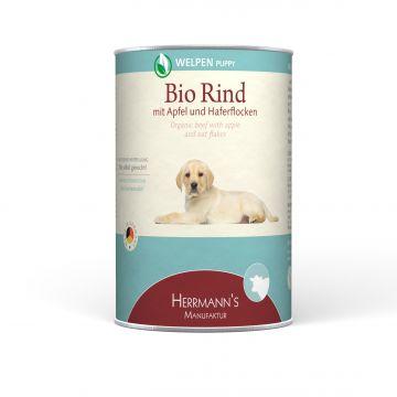 Herrmanns Dog Welpe Bio-Rind, Apfel, Karotte & Haferflocken 400g (Menge: 12 je Bestelleinheit)