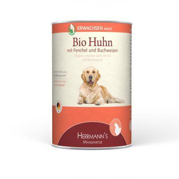 Herrmanns Hundefutter Erwachsen Bio-Huhn 400g (Menge: 12 je Bestelleinheit)