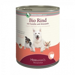 Herrmanns Hundefutter Erwachsen Bio-Rind 400g (Menge: 12 je Bestelleinheit)