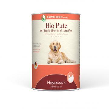 Herrmanns Hundefutter Erwachsen Bio-Pute 400g (Menge: 12 je Bestelleinheit)