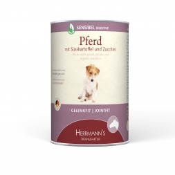 Herrmanns Dog Sensibel Pferd, Süsskartoffel, Zucchini & Borretschöl 400g (Menge: 12 je Bestelleinheit)