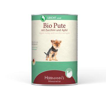 Herrmanns Hundefutter Leicht Bio-Pute 400g (Menge: 12 je Bestelleinheit)