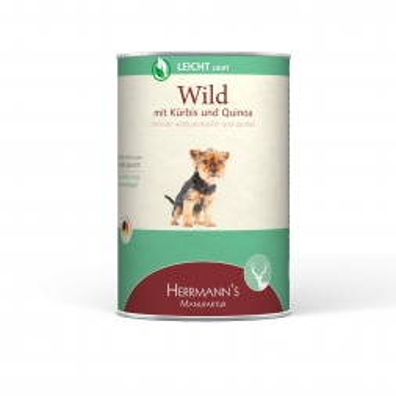 Herrmanns Hundefutter Leicht Wild 400g (Menge: 12 je Bestelleinheit)