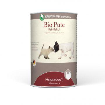 Herrmanns Hundefutter Reinfleisch Bio-Pute 400g (Menge: 12 je Bestelleinheit)