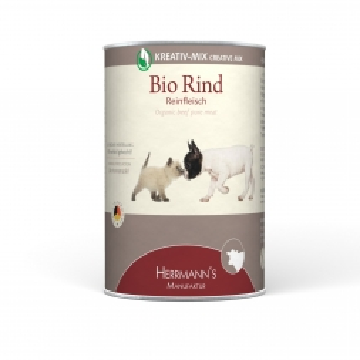 Herrmanns Hundefutter Reinfleisch Bio-Rind 400g (Menge: 12 je Bestelleinheit)