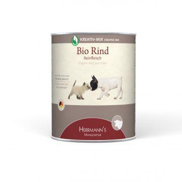 Herrmanns Hundefutter Reinfleisch Bio-Rind 800g (Menge: 6 je Bestelleinheit)