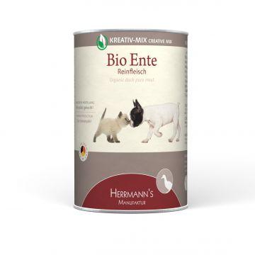Herrmanns Hundefutter Reinfleisch Bio-Ente 400g (Menge: 12 je Bestelleinheit)