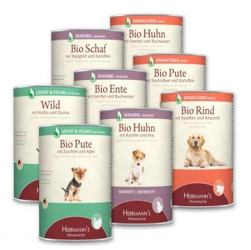 Herrmanns Hundefutter Schlemmerpaket Hund 400g Dose (Menge: 12 je Bestelleinheit)