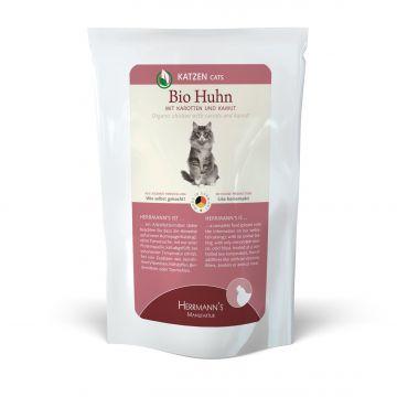 Herrmanns Katzenfutter Frischebeutel Bio-Huhn 100g (Menge: 20 je Bestelleinheit)