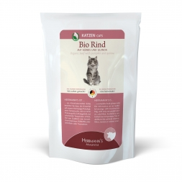 Herrmanns Katzenfutter Frischebeutel Bio-Rind 100g (Menge: 20 je Bestelleinheit)