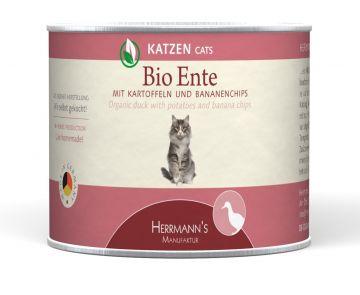 Herrmanns Cat  Dose Bio-Ente Kartoffeln &  Bananenships 200g (Menge: 12 je Bestelleinheit)