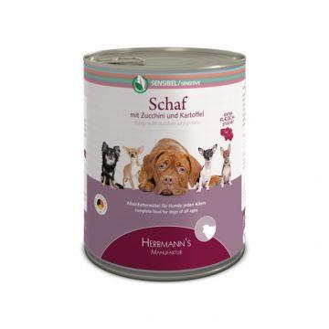 Herrmanns Dog Sensibel Schaf, Zucchini, Petersilienwurzel & Kartoffeln400g  (Menge: 12 je Bestelleinheit)