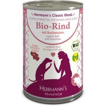 Herrmanns Bio Rind mit Buchweizen, Apfel, Birne, Leinöl 400g (Menge: 12 je Bestelleinheit)