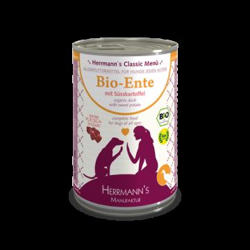 Herrmanns Bio Ente, Süßkartoffel, Kürbis, Nachtkerzenöl 400g (Menge: 12 je Bestelleinheit)