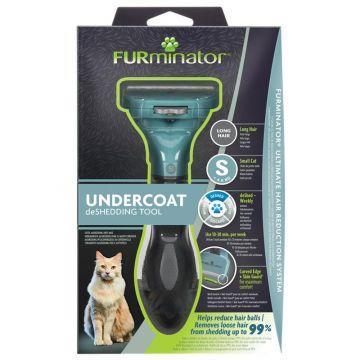 Furminator Katzen-Fellpflegewerkzeug S für die Unterwolle langhaariger, kleiner Katzen