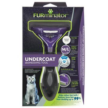 Furminator Katzen-Fellpflegewerkzeug M/L für die Unterwolle großer, kurzhaariger Katzen